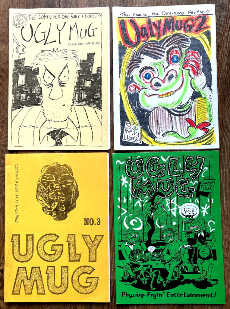 Covers to Ugly Mug issues 1 to 4